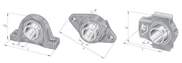 Pillow Block Bearings 3D